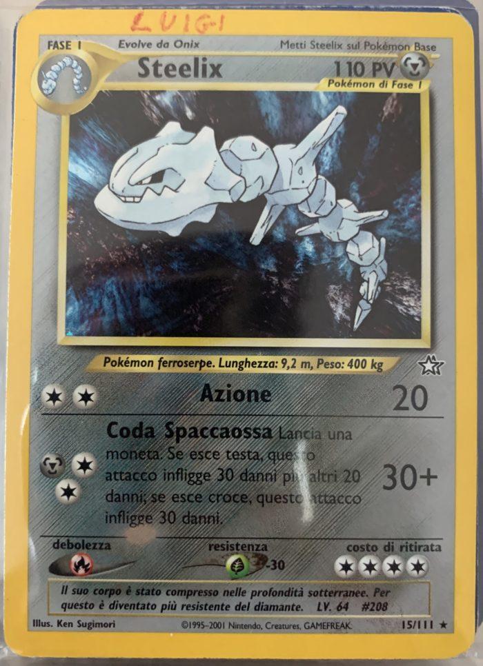 Carta Pokemon di Steelix, espansione NEO Genesis 15/111