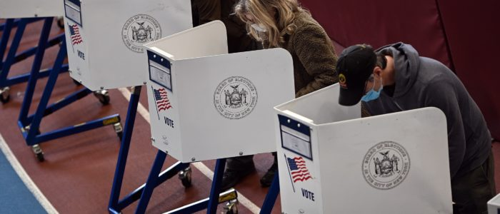 Persone al voto politico in America